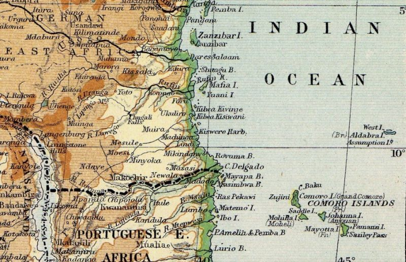 portuguese east africa map