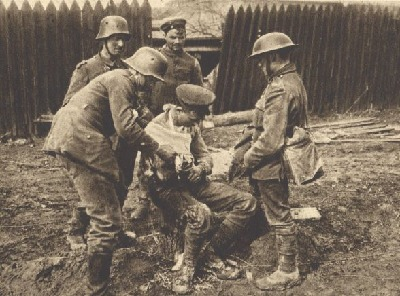 Soldier Helping Wounded Soldier